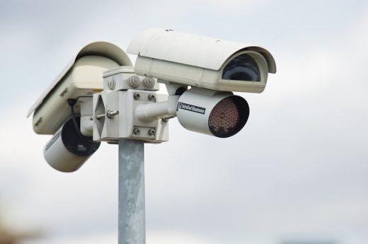 Caméra de surveillance à Abidjan