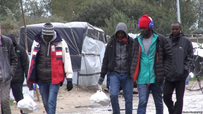 Sudanese migrants in Calais, October 2015
