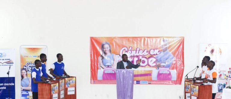 Article : Un concours Génies en Herbe pour promouvoir la lutter contre l'impunité
